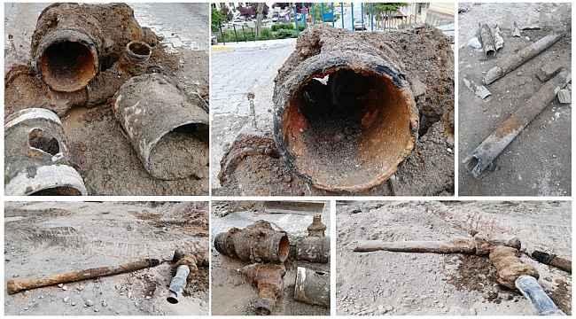 Nevşehir'de içme suyu boruları şok etti