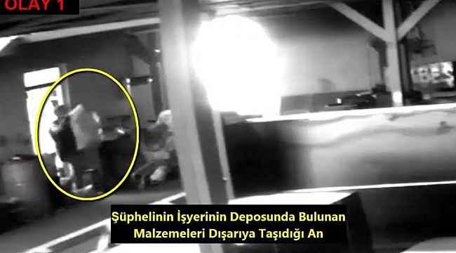 Önce güvenlik kamerasına sonra polise yakalandı