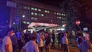 Samatya Hastanesi'nde yangını tedavi gören madde bağımlısının çıkardı