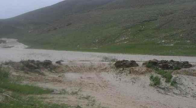 Sel tarım arazilerine zarar verdi