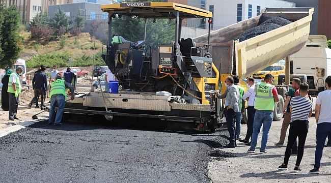 Şifa meydanı ve Devlet Hastanesi çevresinde asfalt serimine başlandı