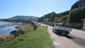 Sinop Belediyesinden sahillere ilaçlama