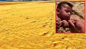 Suudi Arabistanlı bir baba, bebeğine kum yedirdi