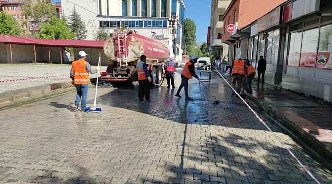 Tatvan Belediyesinden temizlik çalışması