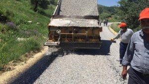 Tunceli'de yol yapım çalışmaları