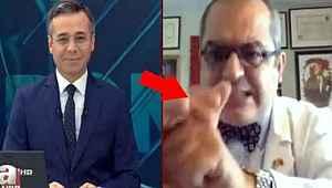 Türkiye'nin korona sürecinde tanıdığı profesör, canlı yayında el hareketi yaptı