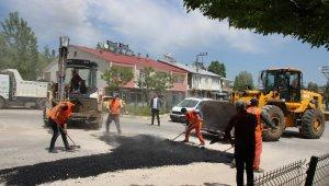 Varto'da yol bakım ve onarım çalışması