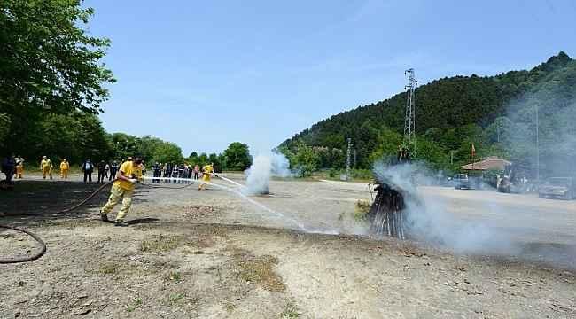 Yangınla mücadele ekipleri eğitimlerine devam ediyor