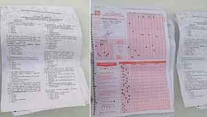 Yolda bulunan sınav kağıtlarıyla ilgili Valilikten açıklama