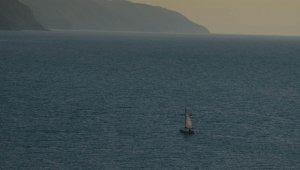 Zonguldak'ta ay tutulması kartpostallık görüntüler oluşturdu