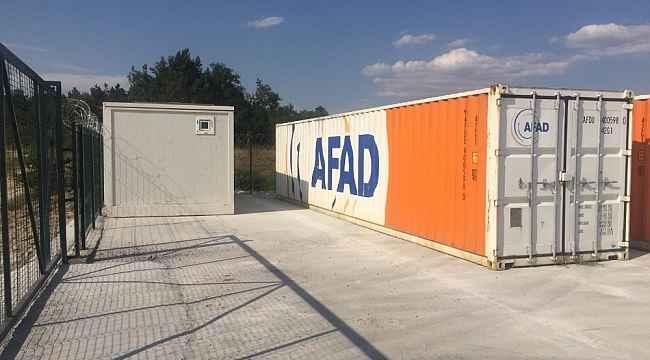 10 adet konteyner ile AFAD Edirne cep deposu hazır