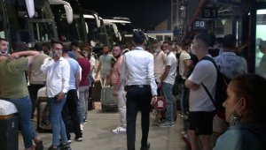 15 Temmuz Demokrasi Otogarı'nda arife günü yoğunluğu
