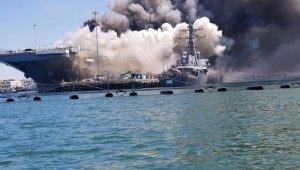 ABD'de savaş gemisinde yangın çıktı