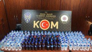 Adana'da 230 bin liralık kaçak içki ve cinsel ürün ele geçirildi