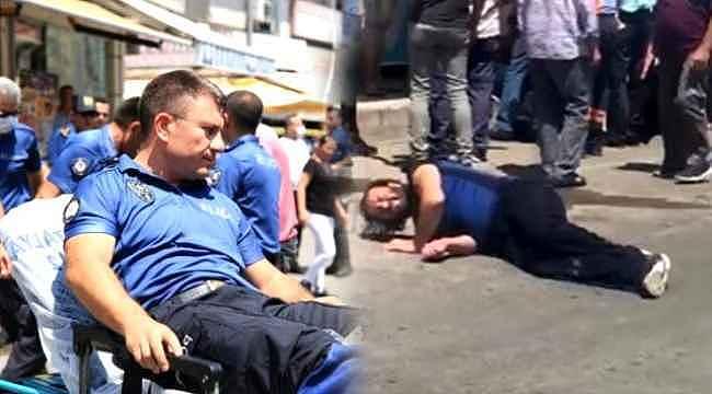 Aranan şüpheli polise bıçakla saldırdı... 2 polis yaralı