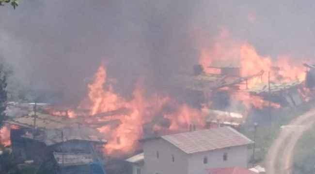 Artvin'de yangın paniği