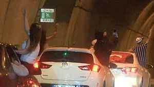 Asker uğurlamak için tünel kapatan 5 maganda yakalandı