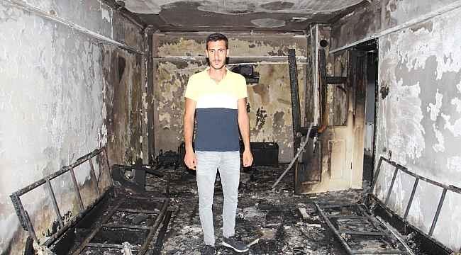Aydın'da ikamet yangını, Çelik Ailesi yangından sonra evsiz kaldı