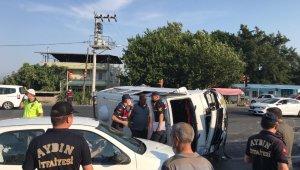 Aydın'da tarım işçilerini taşıyan minibüs devrildi; 11 yaralı