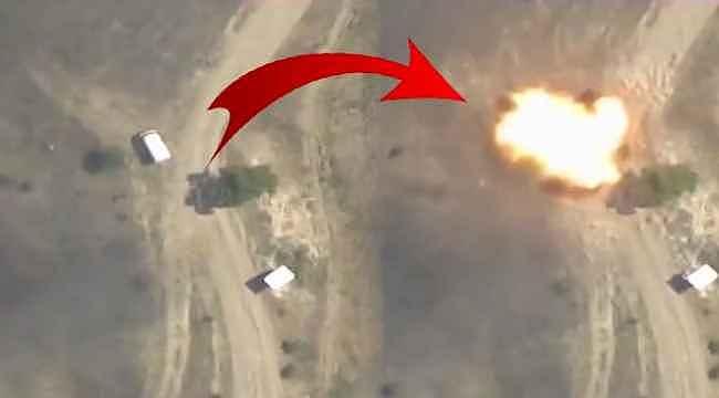 Azerbaycan Ordusu, Ermenistan'a ait askeri aracı vurdu