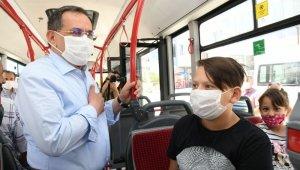 Başkan Demir halk otobüsüne bindi, esnafı ziyaret etti, halkın sorunlarını dinledi