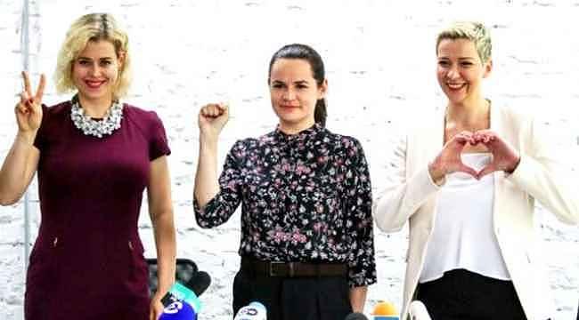 """Belarus'ta 3 kadın, kendilerine """"zavallı şeyler"""" diyen Lukaşenko'ya rakip oldu"""