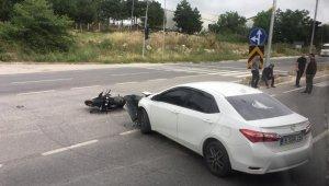 Bilecik'te otomobil ile motosikletin çarpışması sonucu 1 kişi yaralandı