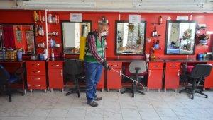 Bünyan Belediyesi iş yerlerini dezenfekte etmeye devam ediyor