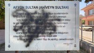 Bursa'da bin 800 yıllık türbeye çirkin saldırı