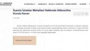 Bursa'da bir mahalleye karantina
