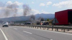 Bursa'da seyir halinde alev alev yandı - Bursa Haberleri