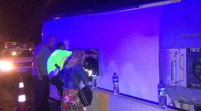 Bursa'da yolcu otobüsü devrildi... İlk belirlemelere göre bir kişi öldü çok sayıda yaralı var - Bursa Haberleri