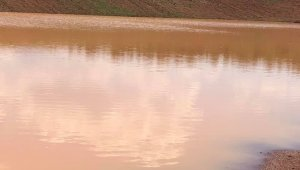 Çamırdık göleti yeniden su tutuyor