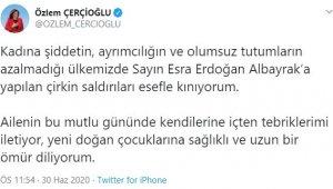 CHP'li Başkan Çerçioğlu'ndan Bakan Albayrak'ın eşine destek