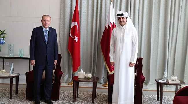 Cumhurbaşkanı Erdoğan Katar Emiri, Al Sani ile görüştü