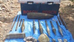 Derecik'te tespit edilen sığınakta çok sayıda mühimmat ele geçirildi