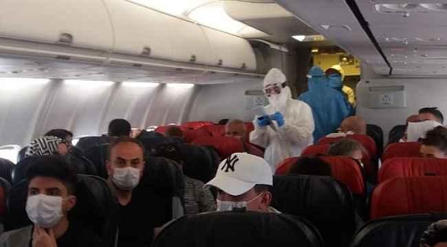Diyarbakır-Ankara uçağında korona virüs paniği