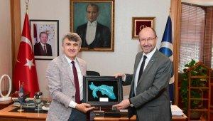DPÜ Rektörü Prof. Dr. Kazım Uysal'dan Rektör Erdal'a hayırlı olsun ziyareti