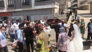 Düğün çekimine giden damat kazada yaralandı