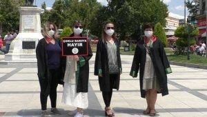 Edirne'de avukatlardan 'Çoklu baroya hayır' protestosu