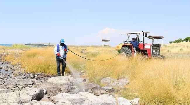 Erciş Belediyesinden vektörle mücadele ve ilaçlama çalışması
