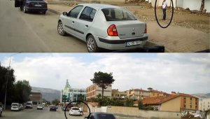 Erzincan'da otomobilin camını kırıp hırsızlık yapan 2 zanlı suçüstü yakalandı