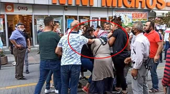 Eski eş, yeni eşe saldırdı... Sokak ortasında kadınların saç saça baş başa kavgası