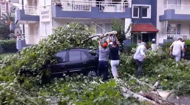 Fırtına, Manisa'da büyük hasara neden oldu