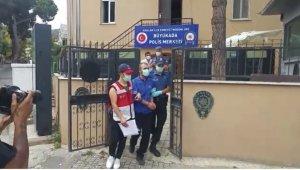Heybeliada'da yangın çıkardığı iddia edilen şüpheli adliyede