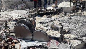 İdlib'te mülteci kampında yangın: 1 yaralı