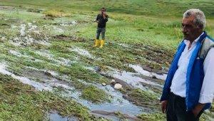 Iğdır'da meydana gelen sel ile ilgili hasar tespit çalışması yapıldı