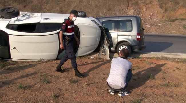 İnşaat işçisi emekleriyle aldığı aracıyla kaza yapınca başından ayrılmadı