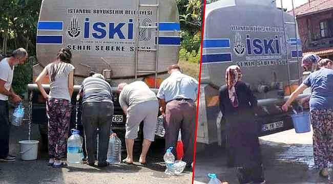 İstanbul'da bidonla su kuyruğu... Bakan Varank,