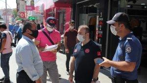 Karaman'da maske takmayan ve sosyal mesafeye uymayan 41 kişiye tutanak tutuldu